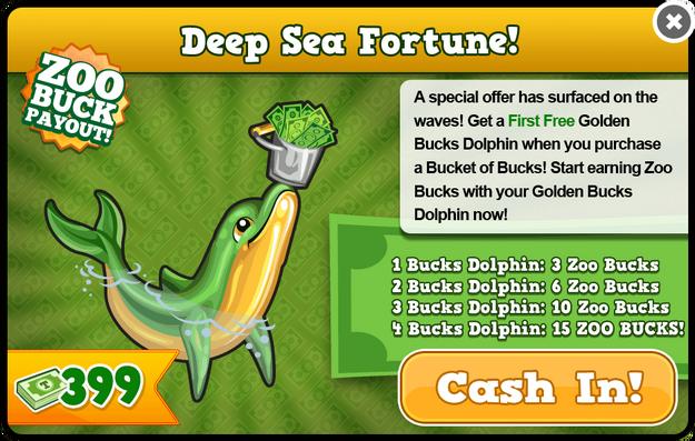 Golden bucks dolphin modal