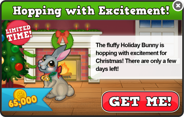 Holiday bunny modal
