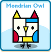 Mondrian owl card