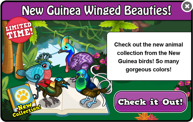 New guinea beauties collection modal!