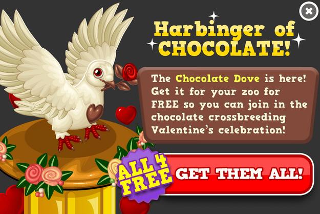 Chocolate dove modal