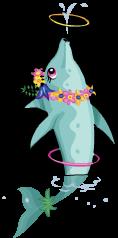 Luau dolphin an