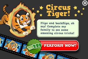 Circus tiger animators modal