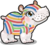 Cubby hippo striped single