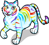 Rainbow tiger single
