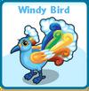 Windy bird card