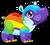 Cubby hippo rainbow single