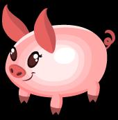 Easter egg pig single