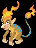 Flame monkey static