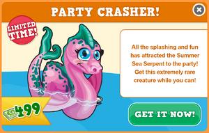 Summer sea serpent modal