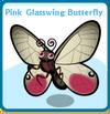 Pink glasswing butterfly card