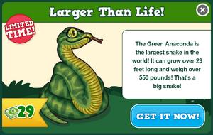 Green anaconda modal