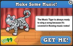 Music tiger modal