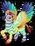 Rainbow zebra pegasus single