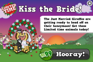 Just married giraffes modal
