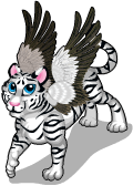 Winged white tiger static