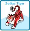 Zodiac tiger card
