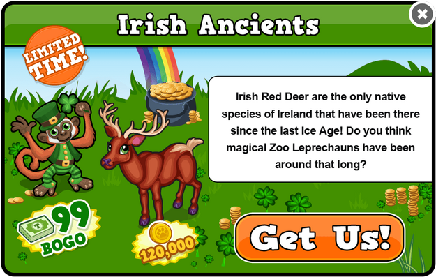 Irish red deer modal