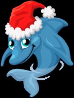 Christmas dolphin single