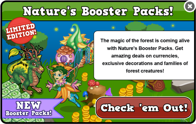 Camping booster packs modal