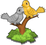 Silver & gold doves static