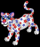 Star spangled leopard single