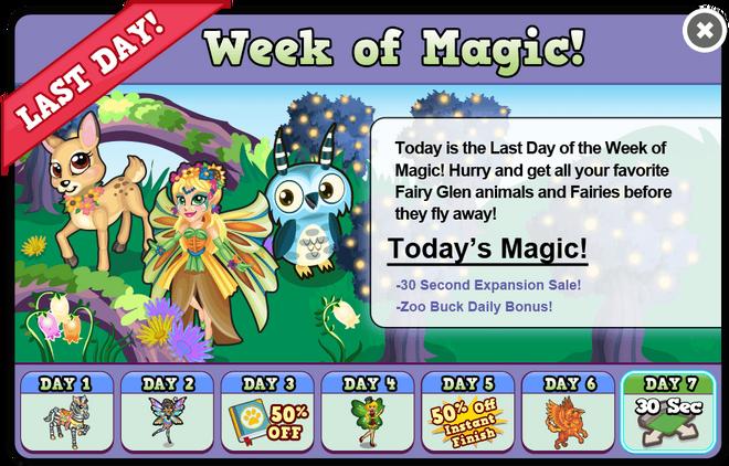 Fairy glen week7 modal