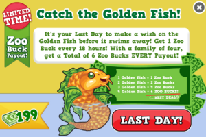 Golden fish last modal