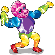 Rock candy gorilla an