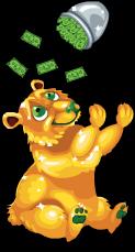 Gold bucks bear an