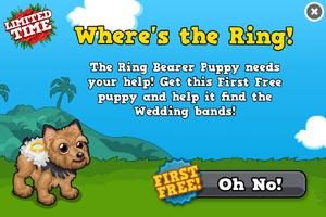 Ring bearer puppy modal