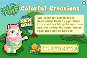 Color me kitten modal