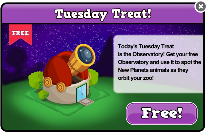Planets tuesday treat modal