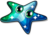 Sea glass starfish single