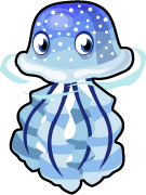 Blue spotted jellyfish single