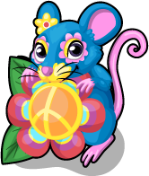 Flower power mouse single