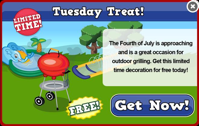 July fourth tuesday treat modal