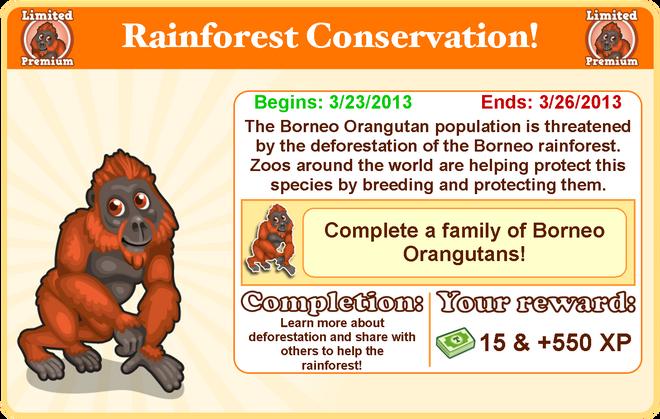 Borneo orangutan goal modal