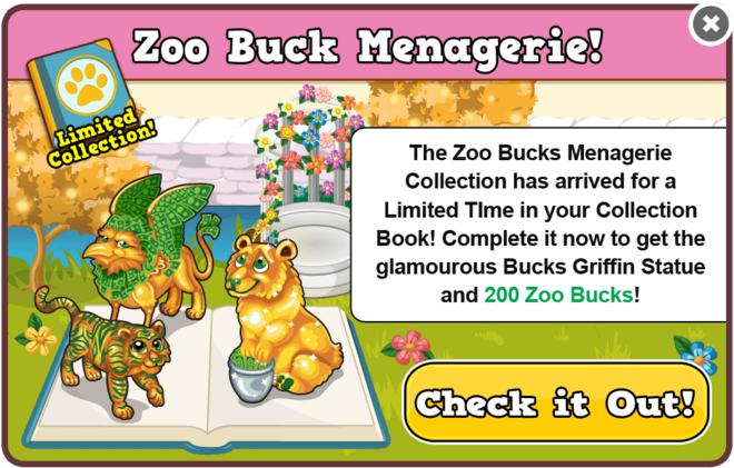 Bucks menagerie collection modal