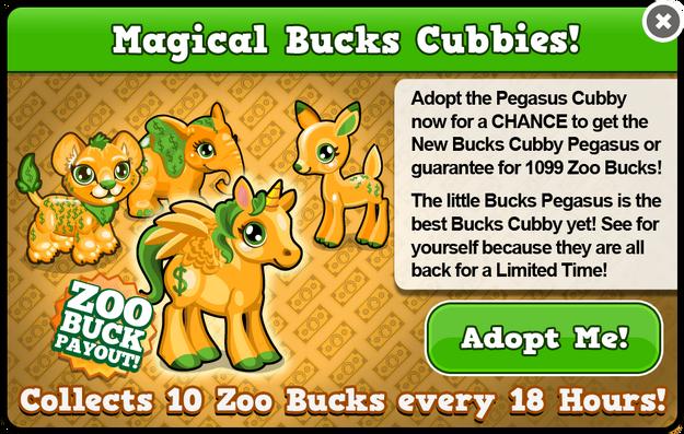 Cubby pegasus bucks modal