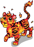 Fire tiger static