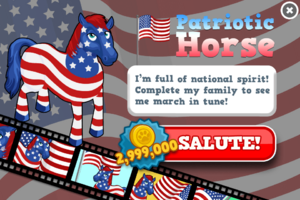 Patriotic horse animators modal
