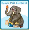 Beach pail elephant card