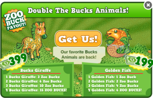 Bucks giraffe golden fish modal