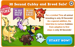 30 second cubby sale modal