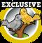 Goal silver & gold doves hud