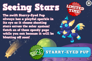Starry-eyed pup modal