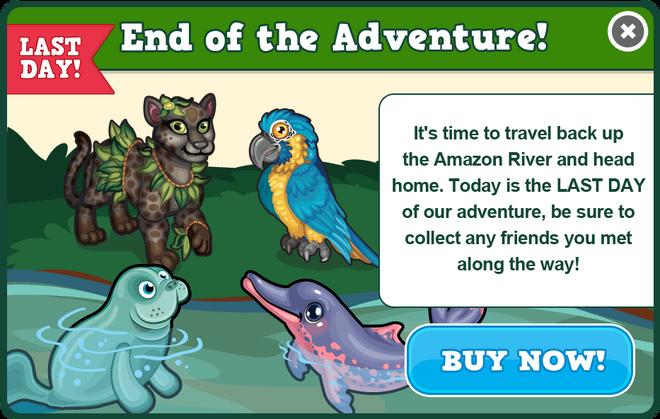 Amazon adventure last modal