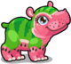 Cubby hippo watermelon single