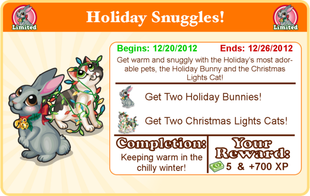 Holiday bunny goal modal